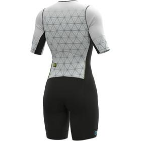 Alé Cycling Maui SS Triathlon Skinsuit Long Women, blanco